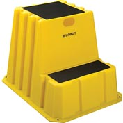 "2 Step Tall Nestable Plastic Step Stand - Yellow 24-3/4""W x 33""D x 24""H - NTXST-2-14"