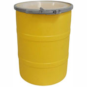 DPI™ - Diversified Plastics Inc. 15 Gallon Open Head Polyethylene Drum OH-15-14 - Yellow