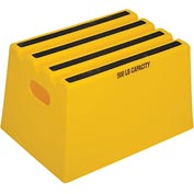 "1 Step Plastic Step Stand - Yellow 13-3/4""W x 19-1/4""D x 11-3/4""H - ST18-14"