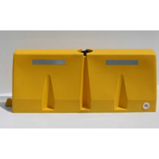 Diversified Plastics 5'L Traffic Barrier, Polyethylene, Yellow