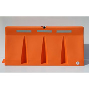 Diversified Plastics 6'L Traffic Barrier, Polyethylene, Orange