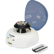 SCILOGEX D1008 Mini-Centrifuge, 91403141, 100-240V, 60Hz, 8-Place, PCR 8 x 2 W/ Cover, Blue