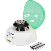 SCILOGEX D1008 Mini-Centrifuge, 91404141, 100-240V, 60Hz, 9-Place, PCR 8 x 2 W/ Cover, Green