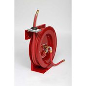 "Duro 1212 3/8"" x 80' 300 PSI Heavy Duty Retractable Spring Hose Reel For Air/Water"