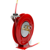 "Duro 1418 Air/Water Retractable Spring Hose Reel, 19"" x 7-3/4"" x 18"", 50' Hose, 300PSI"