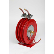 "Duro 1506 Air/Water Dual Hose Reel, 22-1/2"" x 12-1/2"" x 18"", 50' Hose, 300PSI"