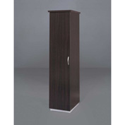 "DMi Pimlico Left Single Wardrobe/Cabinet 18""W x 24""D x 72""H, Mocha, Assembled"