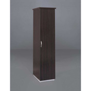 "DMi Pimlico Right Single Wardrobe/Cabinet 18""W x 24""D x 72""H, Mocha, Assembled"