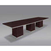 "DMi 12' Conference Table - Boat Shaped - 144""W x 42-48""D x 30""H - Mocha - Pimlico Series"