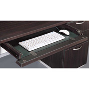 "DMi Pimlico Optional Center/Keyboard Drawer 27.5""W x 19.75""D x 3.25""H, Mocha, Assembled"