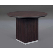 "DMi Pimlico 42"" Round Conference Table 42""W x 42""D x 30""H, Mocha, Unassembled"