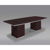 "DMi Pimlico 8' Boat Top Conference Table 96""W x 36-42""D x 30""H, Mocha, Unassembled"