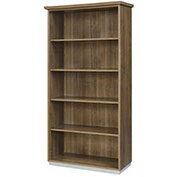 "DMi Open Bookcase 36""W x 16""D x 72""H Walnut Unassembled - Pimlico Series"