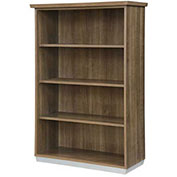 "DMi Pimlico Open Bookcase 36""W x 16""D x 54""H Walnut Assembled"