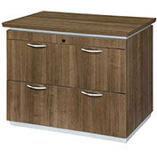 "DMi Pimlico Lateral File 36""W x 24""D x 30""H Walnut Assembled"