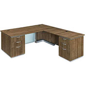"DMi Pimlico Right Executive L Desk 72""W x 84""D x 30""H Walnut Assembled"