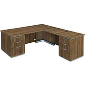 DMi Pimlico Right Executive L Desk with Laminate Modesty Panel Walnut Assembled