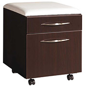 "DMI Mobile Pedestal with Seat Cushion - 18""W x 18""D x 21""H - Mocha - Causeway Series"