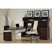 "Conference L Workstation 78""W 108""D x 54""H Mahogany Finish"