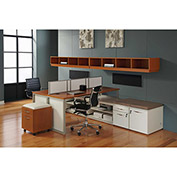 "DMI Double Benching Workstation - 144""W x 90""D x 51-3/4""H - Honey Maple - Causeway Series"