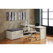 "Lateral Benching Workstation 72""W x 72""D x 30""H White Finish"