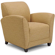 DMI Charisma Guest Chair - Winslow Cashew Fabric with Mocha Legs
