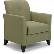 DMI Charisma Guest Chair - Tea Time Olive Fabric with Mocha Legs