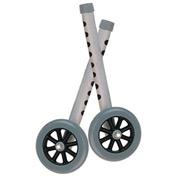 "5"" Walker Wheels with Two Sets of Rear Glides For Use with Universal Walker"