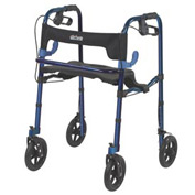 "Drive Medical 10243 Deluxe Clever Lite Rollator Walker with 8"" Casters"