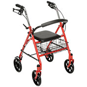 Drive Medical 10257RD-1 Durable 4-Wheel Rollator with 7.5