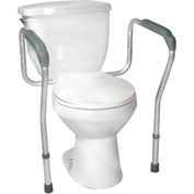 Toilet Safety Frame with Height and Width Adjustable Arms, Knocked Down