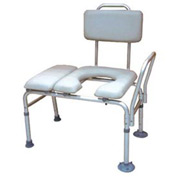 Combination Padded Seat Transfer Bench with Commode Opening