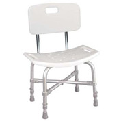 Bariatric Heavy Duty Bath Bench With Back, Knock Down