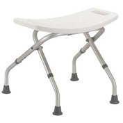 Drive Medical 12486 Deluxe Folding Bath Bench, White