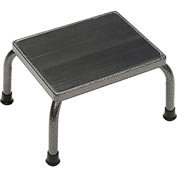 Drive Medical Step Stool - Non-Skid Rubber Footstool Platform 13030-1SV