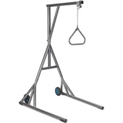 Drive Medical Free-Standing Silver Vein Trapeze with Base and Wheels, 1000 lbs. Weight Capacity
