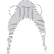 Padded Patient Lift U Sling with Head Support, X-Large