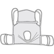 One Piece Commode Sling with Positioning Strap, Large
