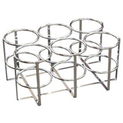 Economy Oxygen Rack, Holds 6 E, D or C Cylinders