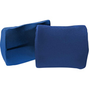 "Drive Medical Lumbar Cushion, 4""L x 14""W x 13-1/2""H, Strylon™ Stretch Cloth, Blue"