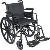 "Cirrus IV Wheelchair with Adjustable Arms, Detachable Desk Arms, Swing Away Footrests, 16"" Seat"