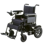 "18"" Cirrus Plus Folding Power Wheelchair with Footrest and Batteries"