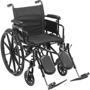 "Cruiser X4 Wheelchair with Adjustable Detachable Arms, Desk Arms, Elevating Leg Rests, 18"" Seat"