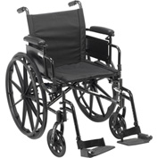 "Cruiser X4 Wheelchair with Adjustable Detachable Arms, Desk Arms, Swing Away Footrests, 18"" Seat"