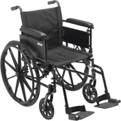 "Cruiser X4 Wheelchair with Adjustable Detachable Arms, Full Arms, Swing Away Footrests, 20"" Seat"