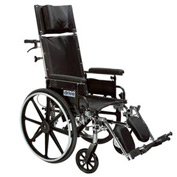 "Pediatric Viper Plus Reclining Wheelchair, 12""W Seat, Flip-back Detachable Desk Arms, Black"