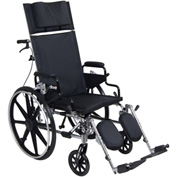 "Viper Plus GT Full Reclining Wheelchair, Detachable Desk Arms, 16"" Seat"