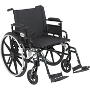 "22"" Viper Plus GT Wheelchair, Flip Back Removable Adjustable Desk Arms, Swing Away Footrests"