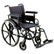 "22"" Viper Plus GT Wheelchair, Flip Back & Detachable Adj. Height Full Arm, Swing-Away Footrests"