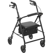 "Drive Medical R800BK Steel Rollator with 6"" Casters, Black"